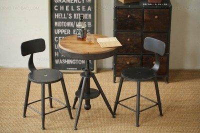 龙韵至尊美式复古铁艺餐桌椅组合 咖啡店奶茶店休闲桌椅套件销量排行