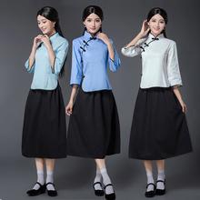 中山装 女五四青年装 男班服毕业照合唱服装 民国风女装 民国学生装