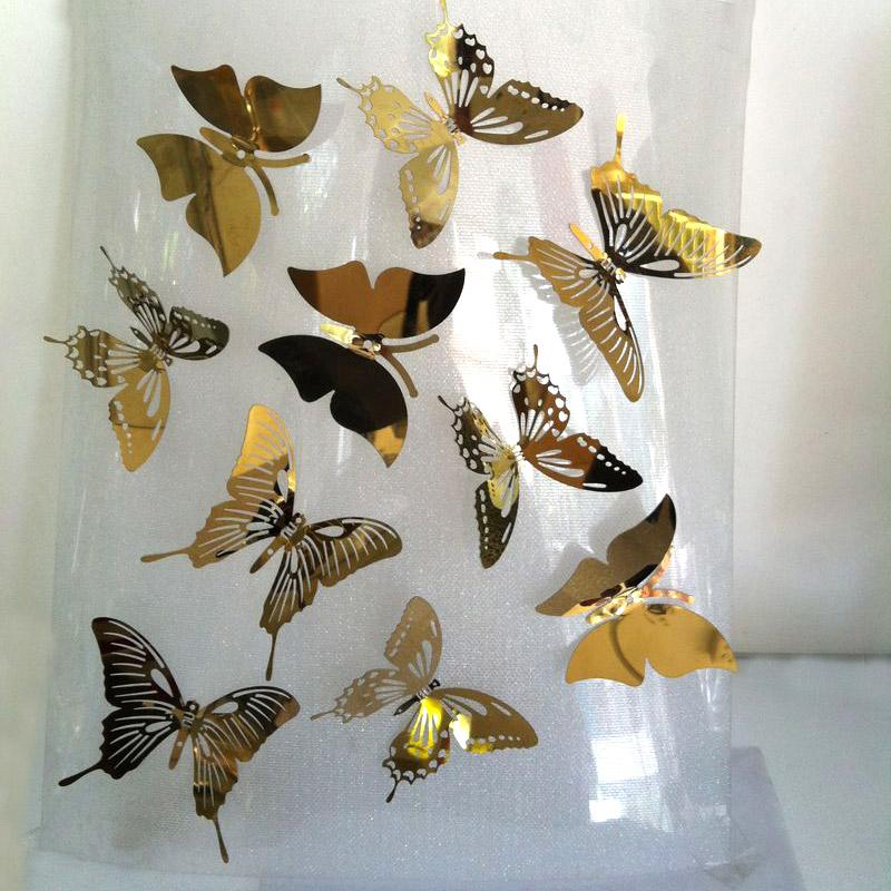 蝴蝶装饰品金色