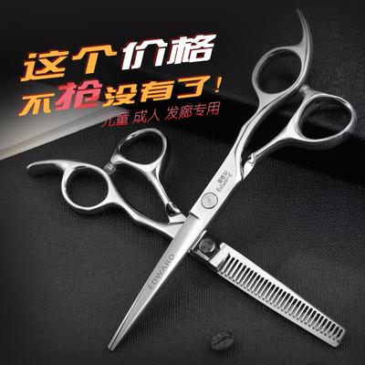 爱德华精钢美发理发剪刀碎发打薄剪牙剪理发剪刀刘海剪子平剪