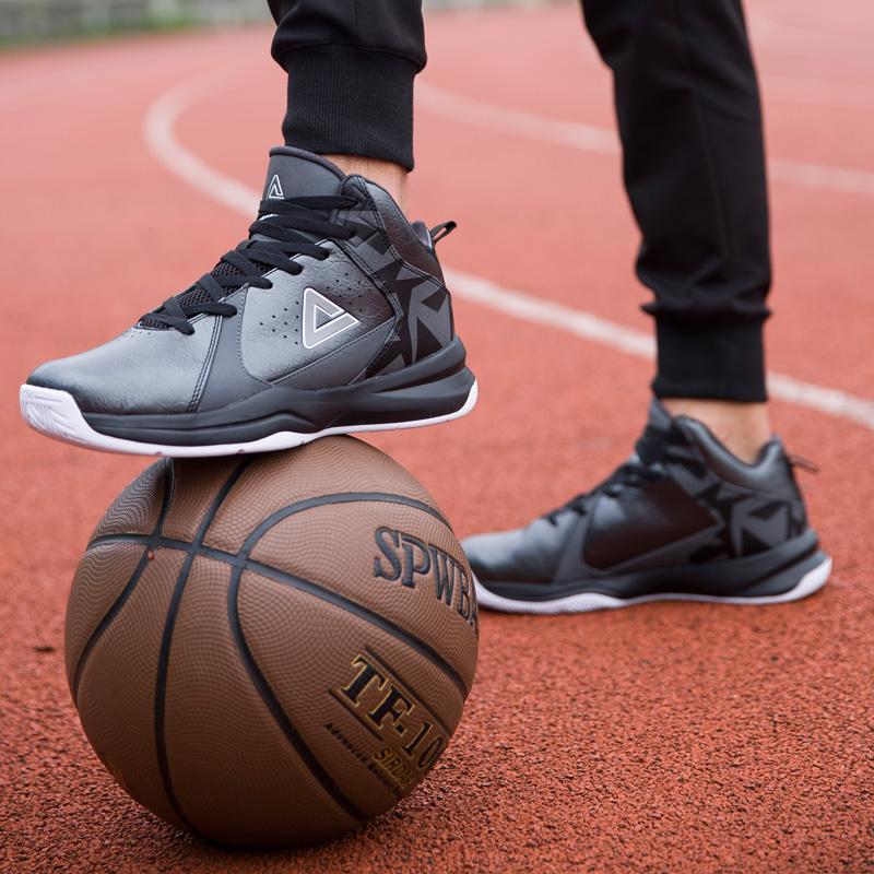 匹克男鞋皮运动鞋