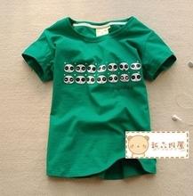 大码胖MM2015新品夏装百搭加大码绿色可爱表情大码短袖T恤