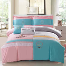 Jinyu Luo Lai home textile four sets of genuine cotton, autumn and winter cotton embroidery embroidery bedding 1.8m2.0m bed