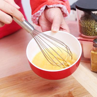 手动打蛋器 家用烘焙工具鸡蛋搅拌器迷你奶油打发器 不锈钢搅蛋器