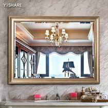 壁挂带灯浴室镜洗手间厕所镜卫浴镜子灯镜LED卫生间无框YISHARE