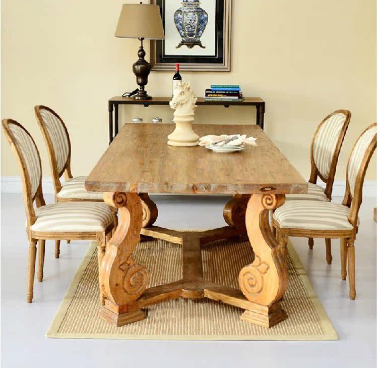 欧式桌椅组合6人