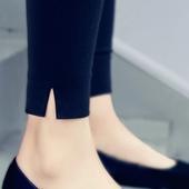 打底裤春夏2018新款韩版百搭外穿九分薄款小脚高腰铅笔黑色裤子女