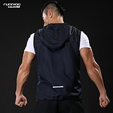 Running Guide P310 Single-layer hooded running vest Men and women The same paragraph Quick-drying windproof and breathable