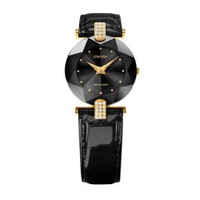 JOWISSA瑞士品牌女士手表镶钻休闲时尚腕表防水石英表女表