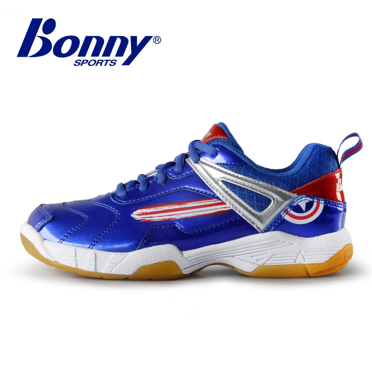 bonny波力专业透气减震儿童羽毛球鞋运动鞋男童女童小学生羽球鞋