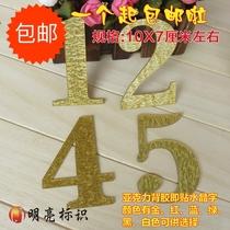 Nouveau spot Crystal mot numéro autocollant de numéro de carte automatique défini groupe numéro siège numéro signe table numéro personnalisation