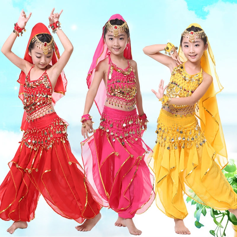 儿童新疆舞蹈演出服装
