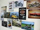 饰画挂饰壁饰画 创意挂画汽车壁挂摩托车汽车欧美复古铁皮画酒吧装