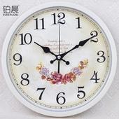 铂晨欧式静音挂钟客厅卧室办公时钟简约时尚挂表现代创意石英钟表