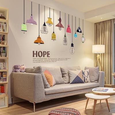 客廳臥室沙發背景墻裝飾墻貼紙 房間墻壁個性創意墻紙貼畫自粘多少錢
