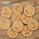 Youcci yo porcelain creative cork twelve constellation couple cup matching personality coaster mug ceramic coasters