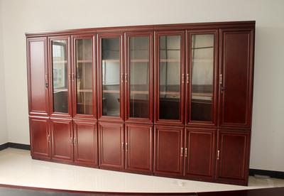 文件柜木质文件柜板式文件柜办公柜办公书柜贴木皮书柜带抽屉带锁618大促