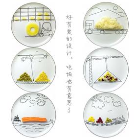好可爱的餐盘 6张23cm套装盘 骨瓷盘子 别具创意的餐盘设计~
