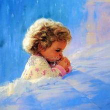 厂家直销幼儿园儿童房童年喷绘油画布 画芯 批发客厅装饰画1074