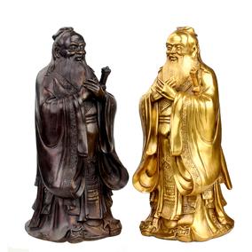 广缘德孔子雕像铜摆件教师节礼物恩师毕业送礼孔夫子像孔圣人铜像