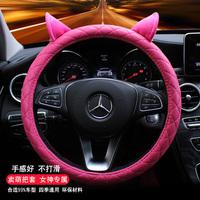 韩国创意耳朵汽车方向盘套女四季通用可爱时尚个性卡通防滑车把套