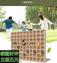 纯实木格子架置物格挂墙茶壶展示架收纳格墙壁隔板创意格子墙面格