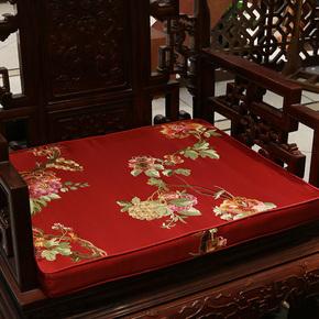 中国风新中式椅垫餐椅皇宫椅太师椅靠背实木海绵椅子红木沙发坐垫