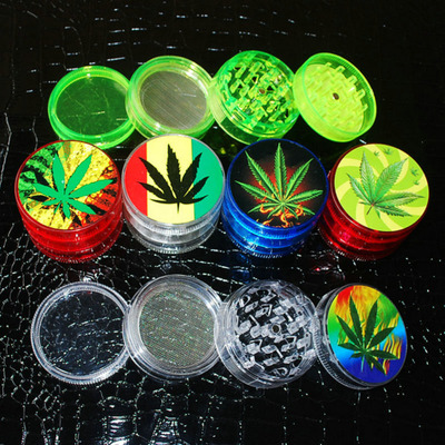 Transparent Acrylic Herbal Pollen Grinder Spice Crusher wit