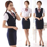 Professional dress manager suit summer armor formal dress hotel front-office dress flight attendant uniform bank work clothes skirt