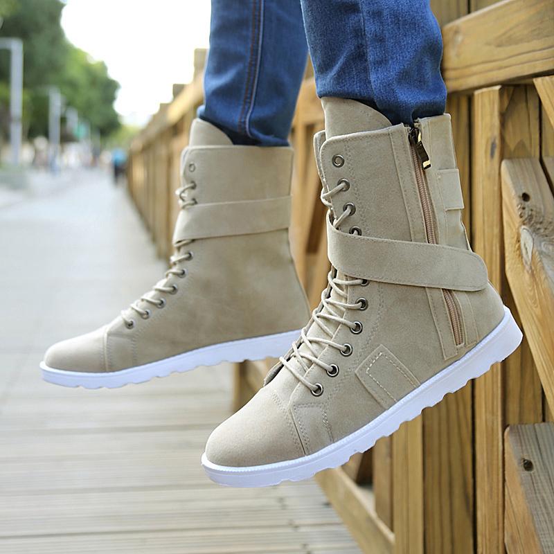 韩版男潮长筒靴