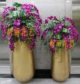 客厅售楼部样板房欧式现代装 落地大花瓶仿真插花艺套装 酒店 饰摆件