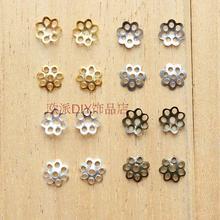 6MM镀银花托180颗耳环配件DIY饰品材料耳钩耳钉耳圈配件批发串珠图片