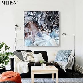 苍穹 现代简约抽象画欧美客厅无框画帆布玄关装饰画油画挂画餐厅