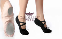 Adult children practice dance shoes soft bottom ballet shoes yoga belly dance shoes jazz shoes leather head modern dance