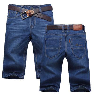 薄款牛仔裤男直筒马裤5分裤子男士  牛仔短裤男  夏季五分裤中裤