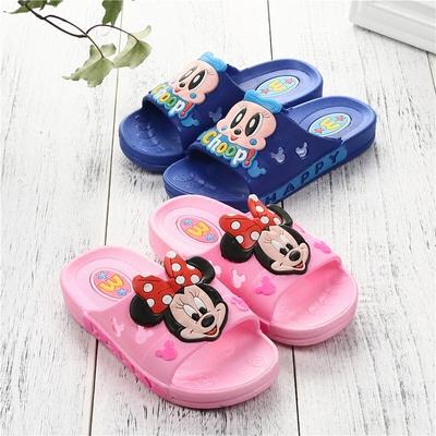 2018儿童拖鞋夏季3-7岁男童女童室内外防滑宝宝可爱米奇卡通凉拖