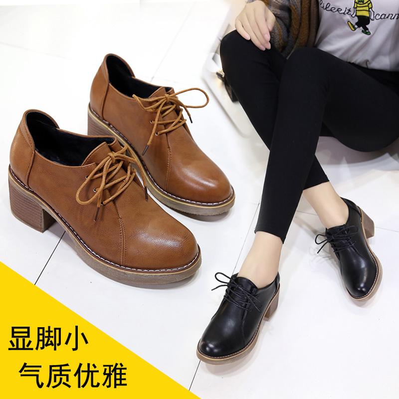 马丁靴女学生短靴粗跟