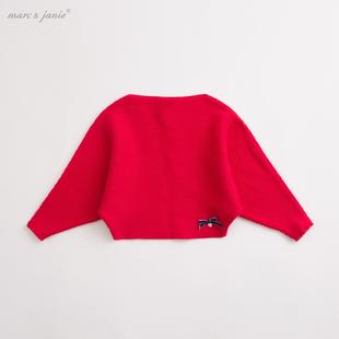【打折】马克珍妮春装宝宝长袖毛衣 女童蝙蝠衫毛衣68008