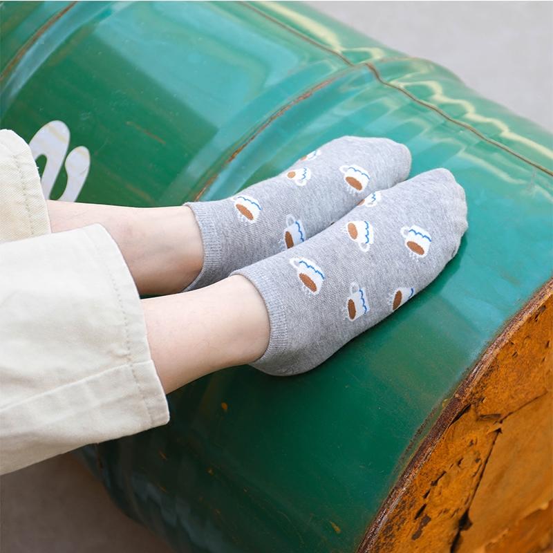 喵兔襪子韓國進口正品可愛卡通襪短襪全棉女士個性短襪小白鞋襪圖片