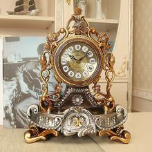 饰石英钟 丽盛欧式座钟客厅静音床头柜钟表复古台钟创意摆件时钟装