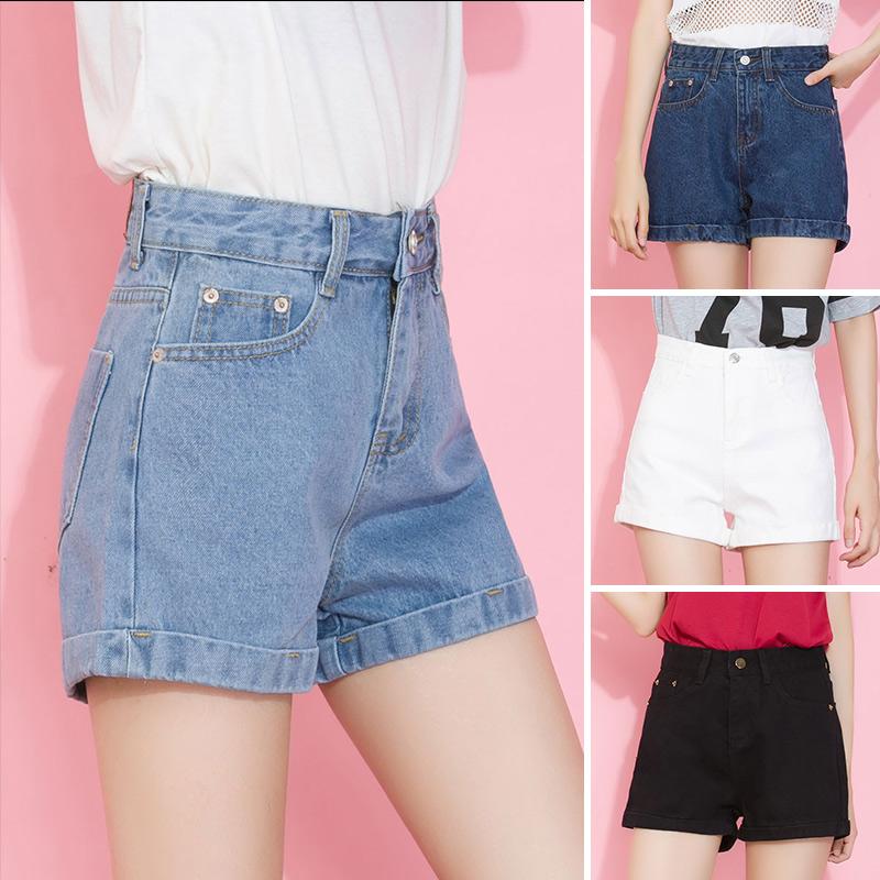 超浅蓝色超短裤
