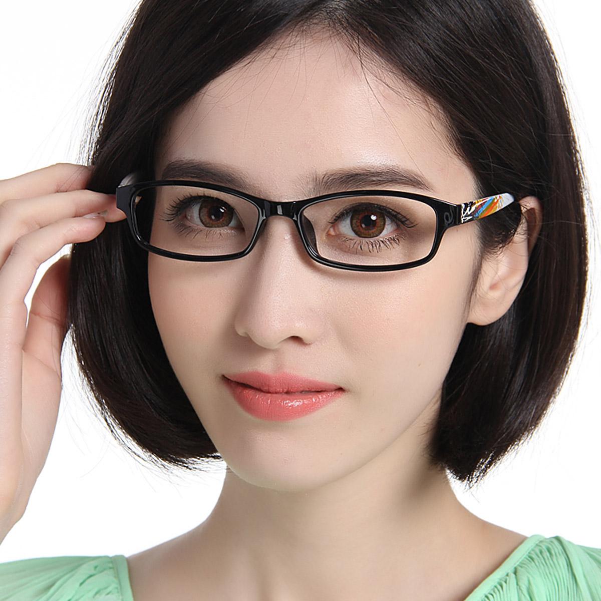 欣蕾8036黑彩防蓝光眼镜