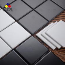九格陶瓷全瓷马赛克黑白灰厨房卫生间墙地砖白色小方砖30 北欧风格