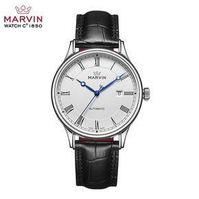 2017新款 瑞士手表Marvin摩纹手表复古皮带机械男表M135.13.22.74