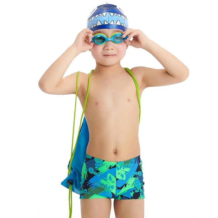 speedo 速比涛儿童三件套装 泳镜泳帽泳包组合度假休闲装备515609