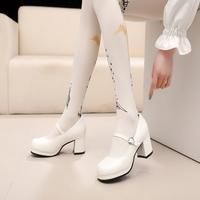 lolita小皮鞋夏软妹女鞋厚底日系玛丽珍女单鞋可爱圆头学生娃娃鞋