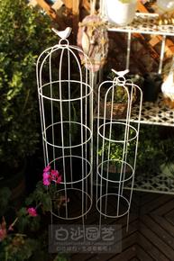 铁艺鸟笼架爬藤花架小鸟花架铁线莲花架鸟笼爬藤架庭院花园装饰
