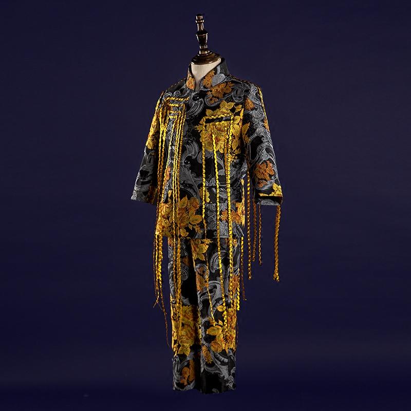 凝制 高端儿童礼服秋冬男童西装演出小主持人模特走秀礼服套装