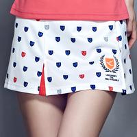 正品领胜透气羽毛球服女夏款裤裙网球裙裤防走光短裤修身显瘦C01