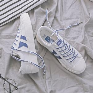 环球百搭小白鞋女春2018新款鞋子原宿ulzzang韩版布鞋学生帆布鞋